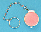 Sterling Silver Pink Enamel Guilloche Compact