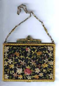 Crewel Embroidery Vanity Purse