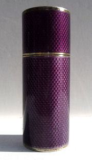 Sterling Silver Purple Enamel Guilloche Case