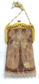 Whiting & Davis Daisies Mesh Purse