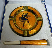 Matching Cigarette Holder and Ashtry Set
