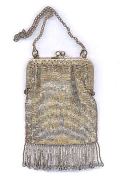 Child's French Steel-Beaded Purse