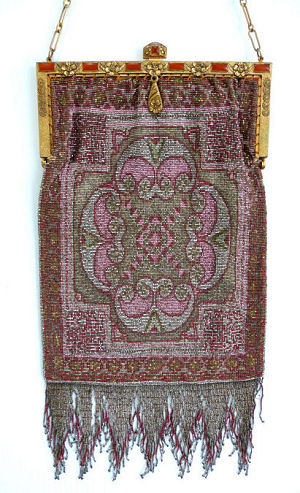 French Carpet Design Beaded Purse