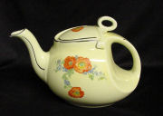 Hall Orange Poppy Streamline Teapot