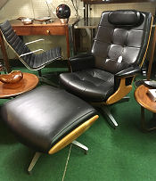 Heywood Wakefield Lounge Chair and Ottoman