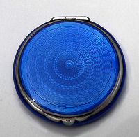 Sterling Silver Enamel Guilloche Compact