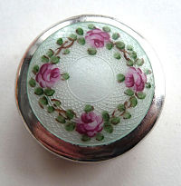 Wells Sterling Silver Enamel Guilloche Compact