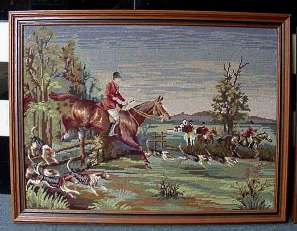 Needlepoint Hunt Scene