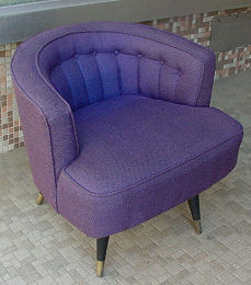 Channelback Upholstered Modernistic Chair