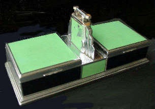 Art Deco Cigarette Box with matching Lighter by Evans