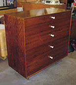 Nelson Thin-Edge Rosewood Bureau - Click for Enlarged Image