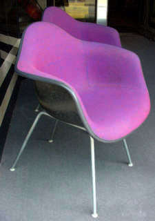 Herman Miller Shell Chairs with Alexander Girard Fabric