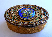 French Jeweled Compact