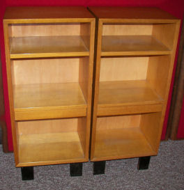 George Nelson Pair of Pier Cabinet Bookcases