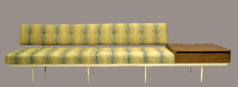 Knoll Sofa with Attached Table