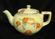 Orange Poppy Boston Teapot