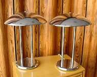 Pair of Moderne' Chrome Lamps