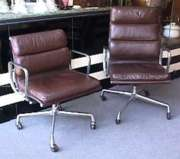 Eames Lowback and  Highback Softpad Leather Chairs