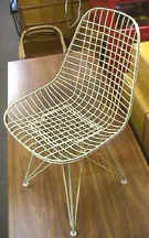 Eames White Wire Chair with Eiffel Tower Base